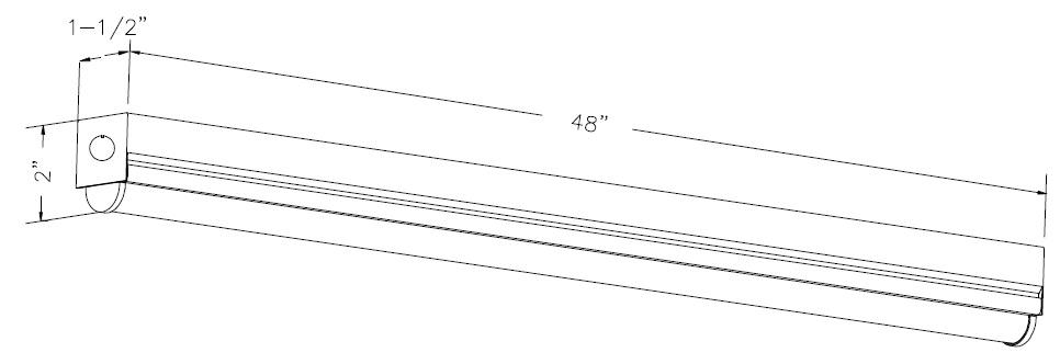 4 u2019 led strip light