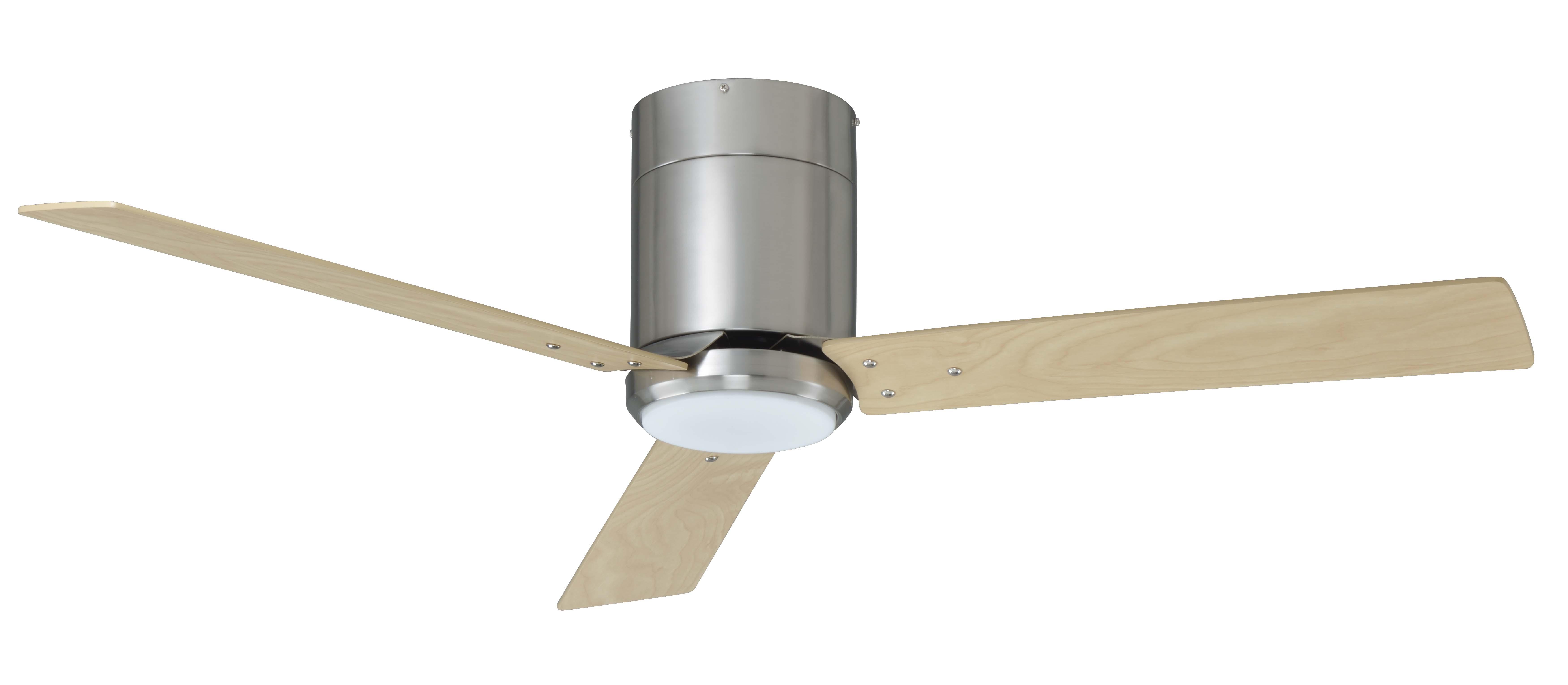 3 blade 52 in hugger fan w integrated LED light kit RP LIghting