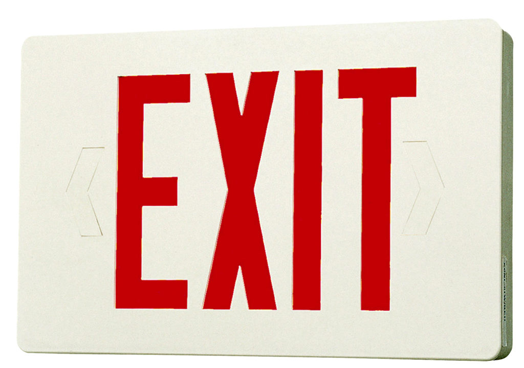 Closeout Compact Low Profile Two Circuit Led Exit Sign