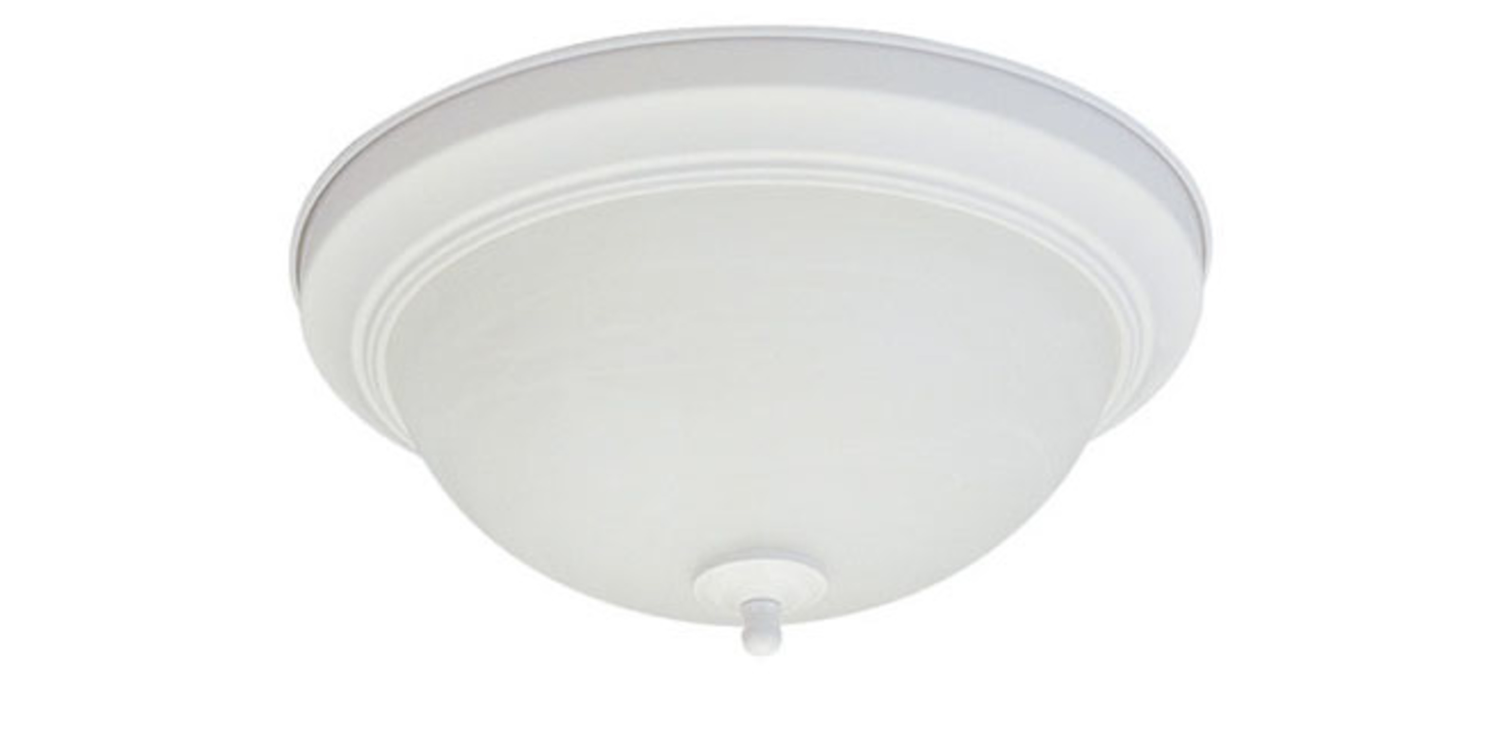 Closeout Fluorescent Ceiling Mount Fixture With Pull