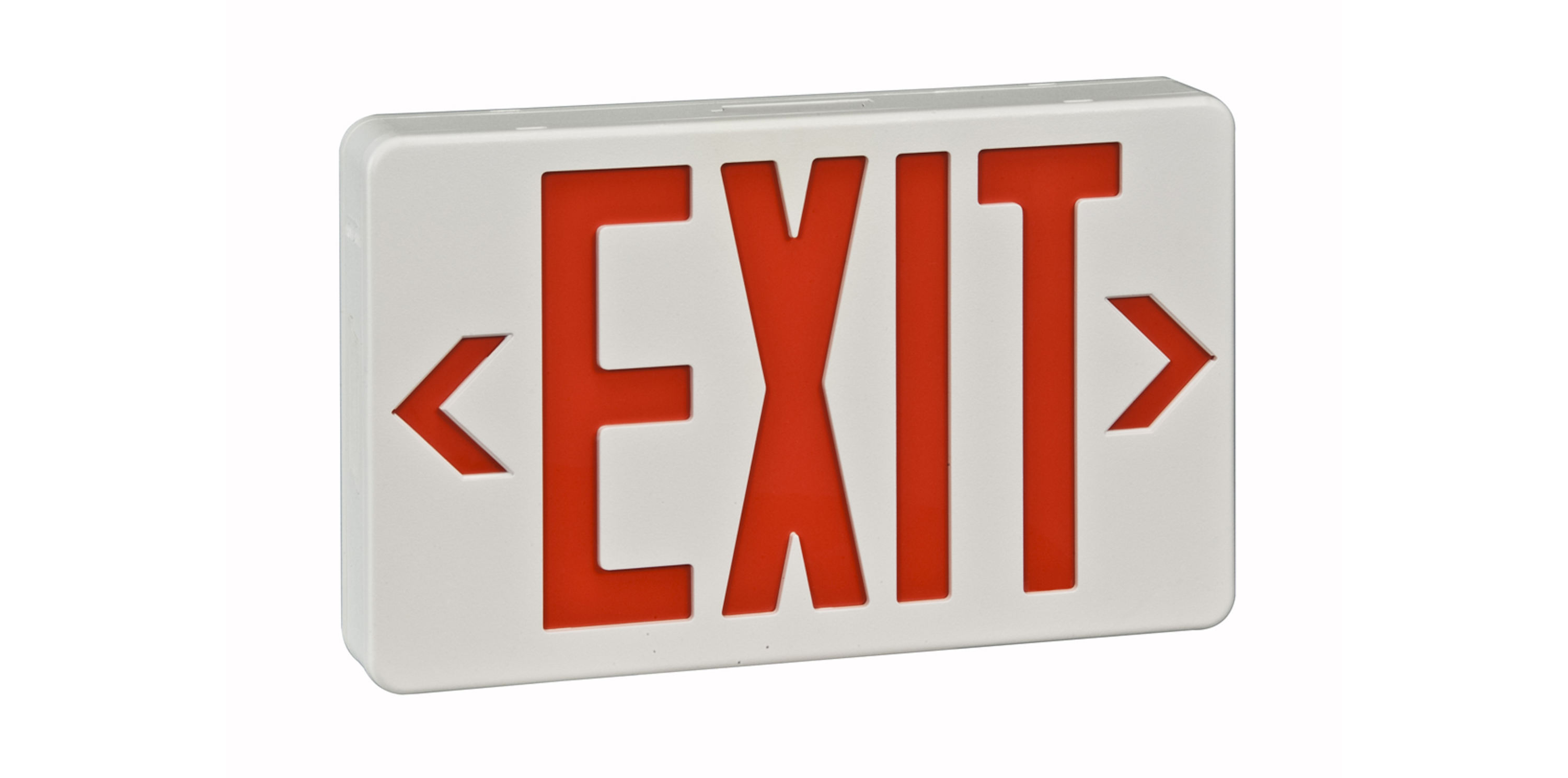 Led Remote Capable Exit Sign Rp Lighting Fans
