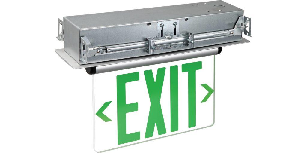Edge Lit Emergency Exit Single Face Recess Mount Rp