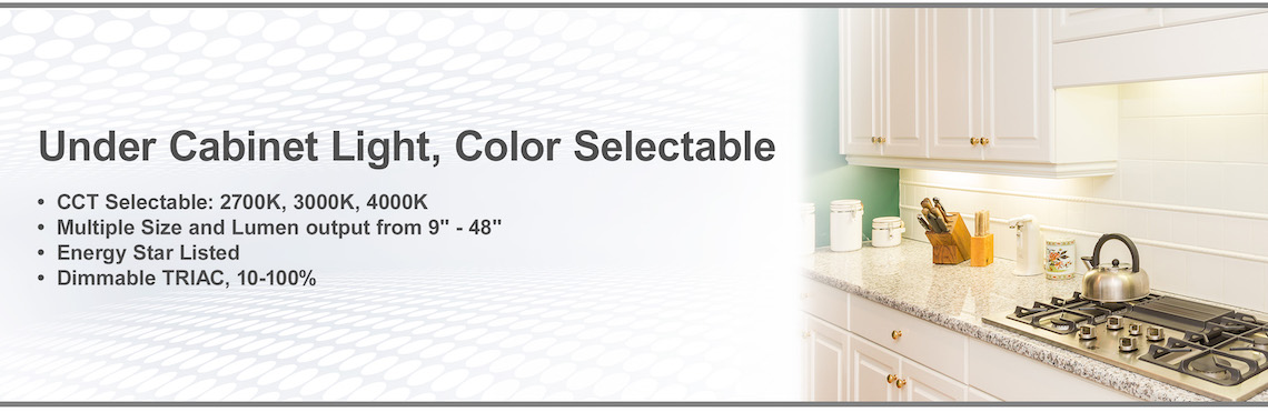 Under Cabinet Light, Color Selectable