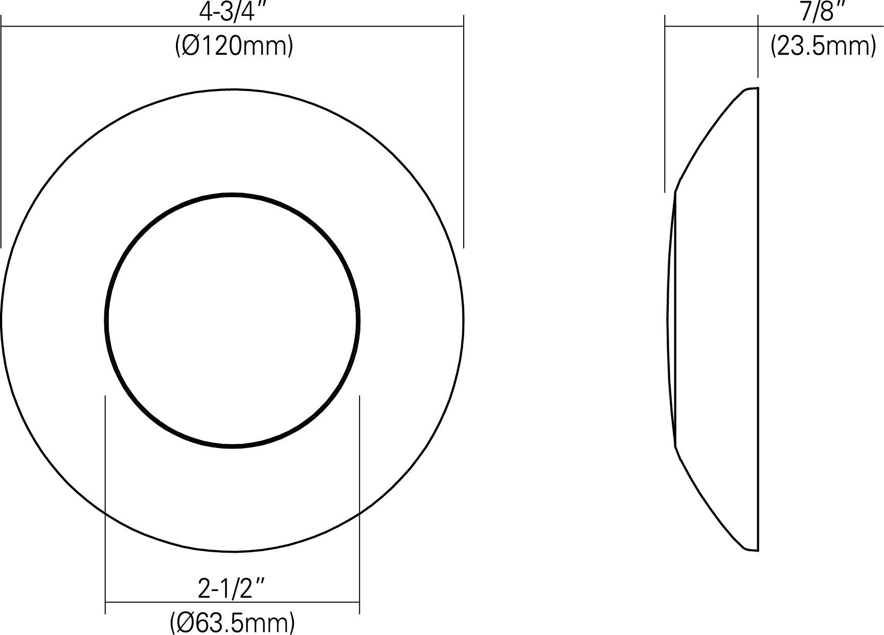 3 u0026quot  led low-profile disk light
